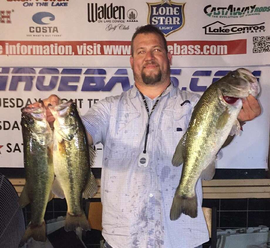 Matt Tyler came in first place with a total stringer weight of 8.40 pounds in the CONROEBASS Thursday Individual tournament.