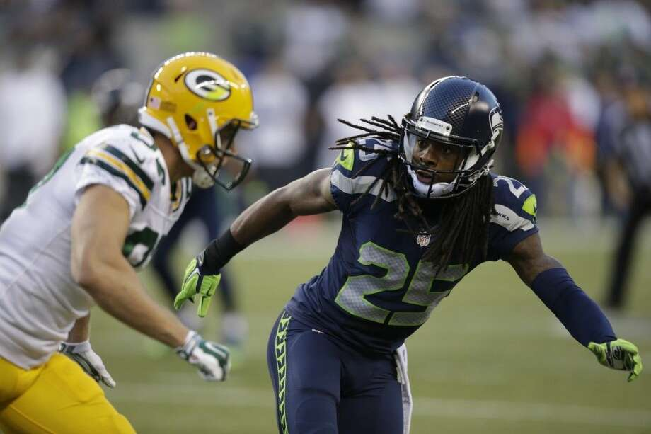 Cornerback Richard Sherman and the rest of the Seattle Seahawks will play host to the Packers in today's NFC championship game. Photo: AP Photo By Stephen Brashear