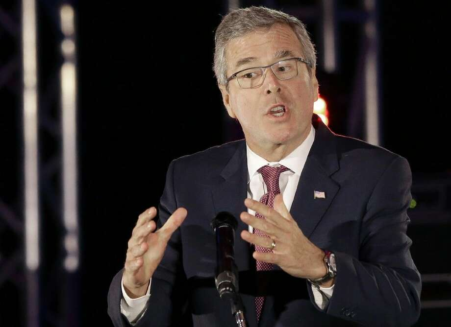 Former Florida Gov. Jeb Bush speaks on Wednesday in Houston. Photo: Pat Sullivan