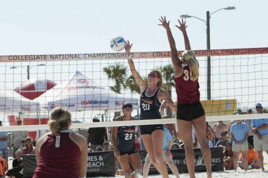 Katie Messing of Pepperdine University, a graduate of The Woodlands High school, helped her team win the AVCA collegiate sand volleyball championship Saturday in Gulf Shores, Ala. Photo: Bobby McDuffie