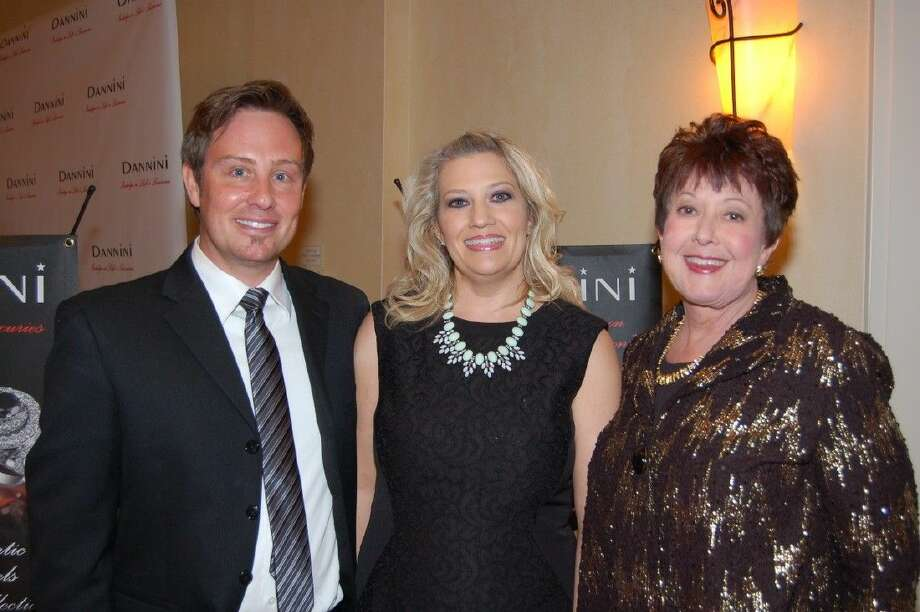 "From left, Ryan & Holly Gruy with Marion Franke at the ""Betting On Courage"" gala benefiting Children's Safe Harbor."