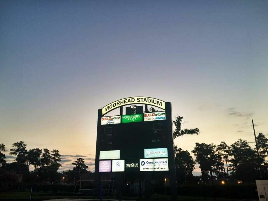 The sun rises behind Moorhead Stadium at Conroe High School after the 2015 Relay for Life. The organization raised more than $120,000 to put toward the fight against cancers.