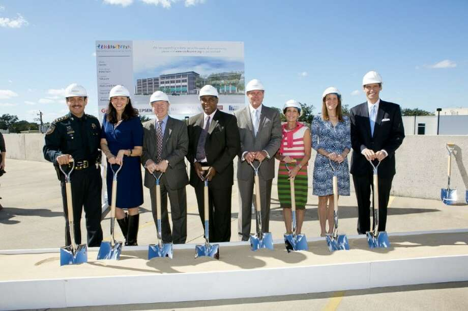 Harris County officials joined supporters of the Children's Assessment Center to break ground for the center's expansion at 2500 Bolsover. The $30 million expansion project will help improve the center's prevention and treatment services for children who are victims of sexual abuse. Photo: Tony Ruppe