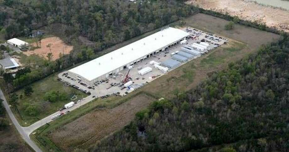 An aerial photo of Protect Controls Inc. in Conroe. The business is starting it fifth year in the Conroe area, having relocated to the area on April 15, 2012.