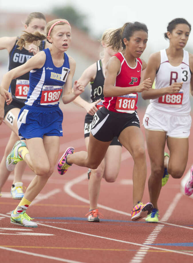 Porter's Evelyn Chavez finished second in the Class 4A 3,200-meter run on Friday at the UIL State Track and Field Championships at Mike A. Myers Stadium on the campus of the University of Texas at Austin. To view or purchase this photo and others like it, visit HCNpics.com. Photo: Jason Fochtman