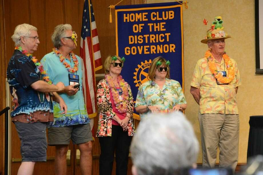 Saturday evening was awards night at a Rotary District 5910 conference. The district's highest award is the District Roll of Fame. Recipients are honored for their outstanding service to their clubs and district.