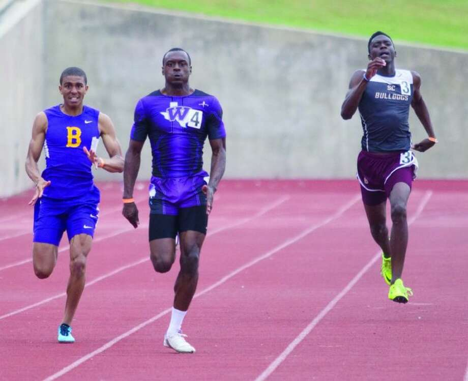 Willis' Chris Platt won the 400-meter dash during the Region III-4A Track and Field Championships on Saturday at Elliott T. Bowers Stadium on the campus of Sam Houston State University in Huntsville. To view or purchase this photo and others like it, visit HCNpics.com.