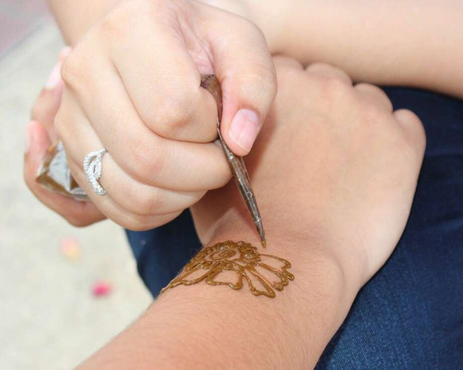 Global Awareness Day attendees can receive temporary Henna tattoos at the event Wednesday, April 20, from 11 a.m.- 2p.m., in the fountain area in front of LSC-Montgomery's Student Services Center (Building C).