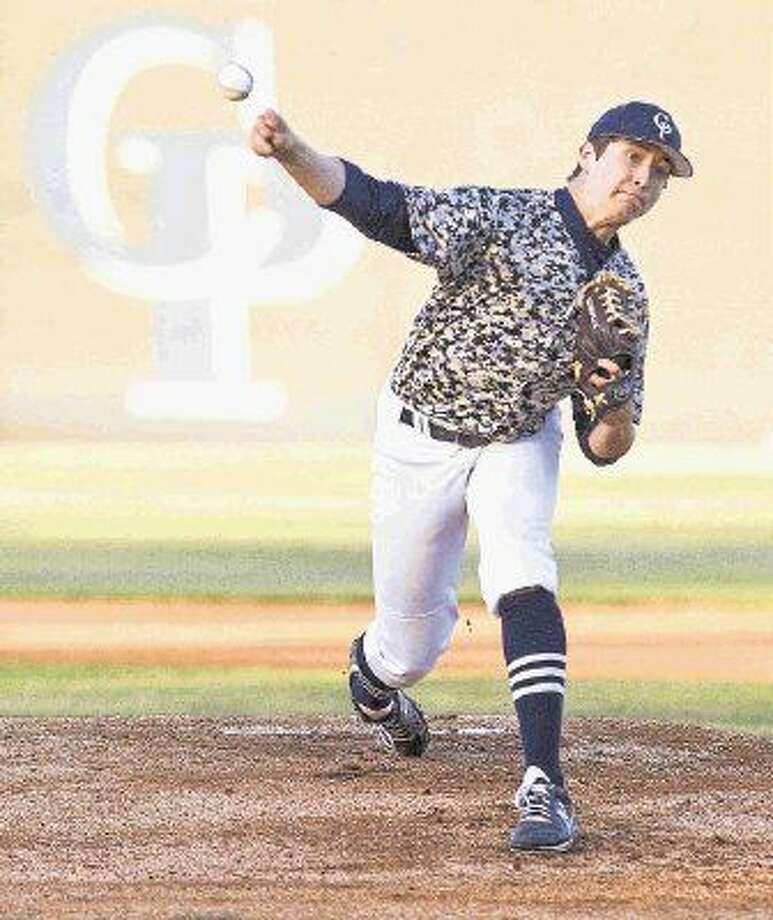 College Park pitcher Beau Ridgeway will get the Cavs' Game 2 start against Austin High School. Photo: Jason Fochtman