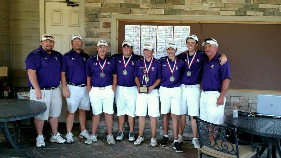 The Montgomery Purple team won the District 15-6A title Tuesday at Lake Windcrest in Magnolia by nine shots.