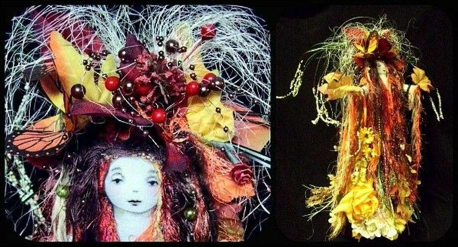 Pictured is an Autumn Goddess doll by artist Kendra Niagra.