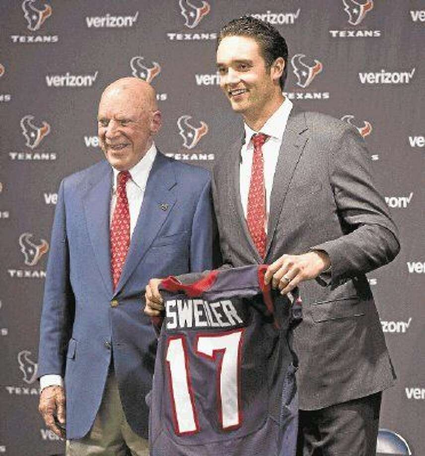 New quarterback Brock Osweiler could make his Houston Texans debut at San Francisco in Week 1 of the preseason. Photo: Jason Fochtman