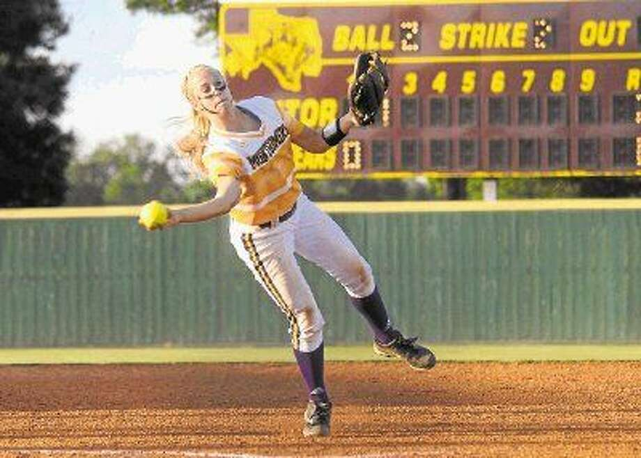 Montgomery shortstop Tiffany Thompson was named to the All-District 15-6A first team chosen by the league coaches. Photo: Keith MacPherson