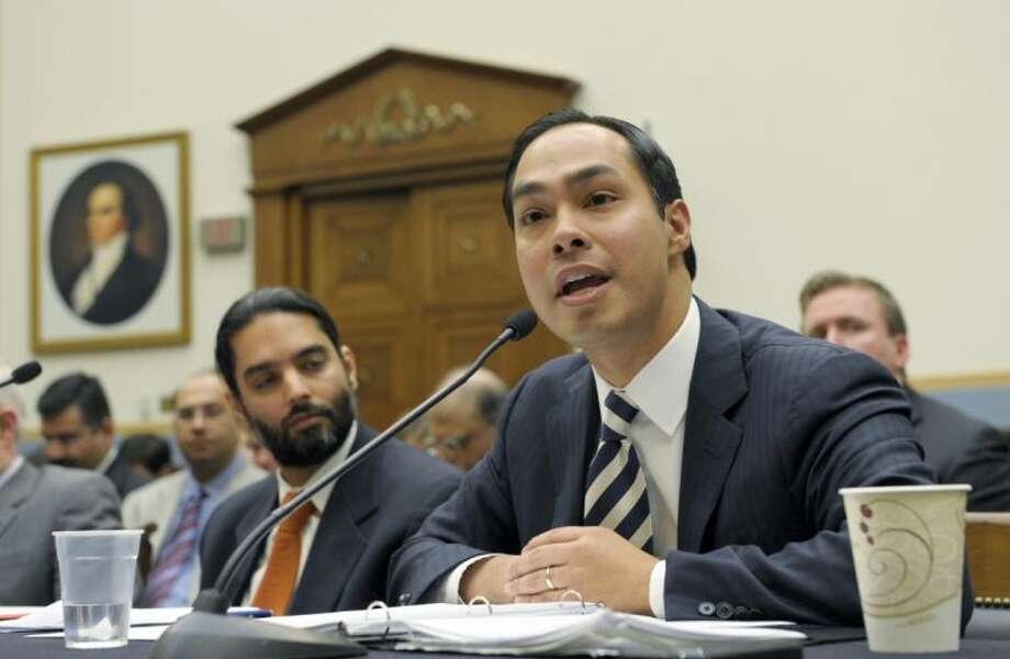 In a Feb. 5, 2013 file photo, San Antonio, Texas Mayor Julian Castro, right, testifies on Capitol Hill in Washington before the House Judiciary Committee. President Barack Obama's expected nomination of Castro as secretary of Housing and Urban Development could test the 39-year-old's ability to navigate Washington ahead of 2016 elections, Texas Democrats say. Photo: Susan Walsh