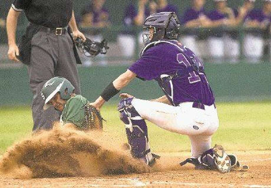 Montgomery catcher Kyle Swanson was named to the All-District 15-6A first team. Photo: Jason Fochtman