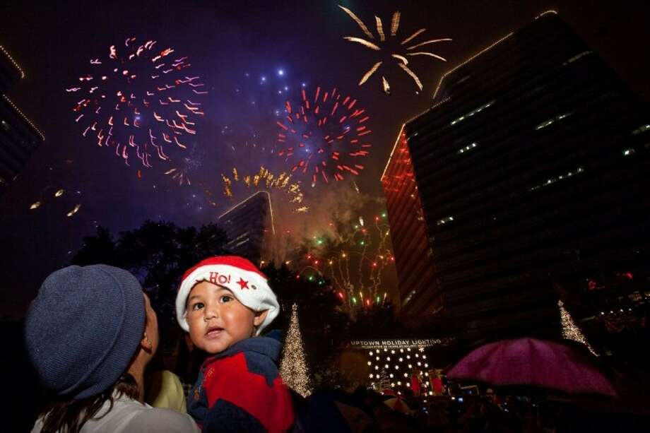 The Uptown Holiday Lighting celebrates its 25th Anniversary in this 2010 file photo. Nearly 100000  sc 1 st  Houston Chronicle & Uptown Holiday Lighting returns Nov. 22 - Houston Chronicle