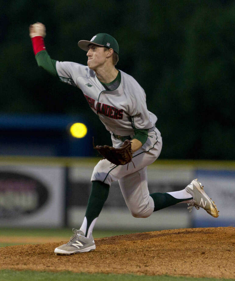Pitcher Devin Fontenot, of The Woodlands, throws in the fourth inning of a District 16-6A baseball game Friday. Go to HCNpics.com to purchase this photo and others like it. Photo: Jason Fochtman
