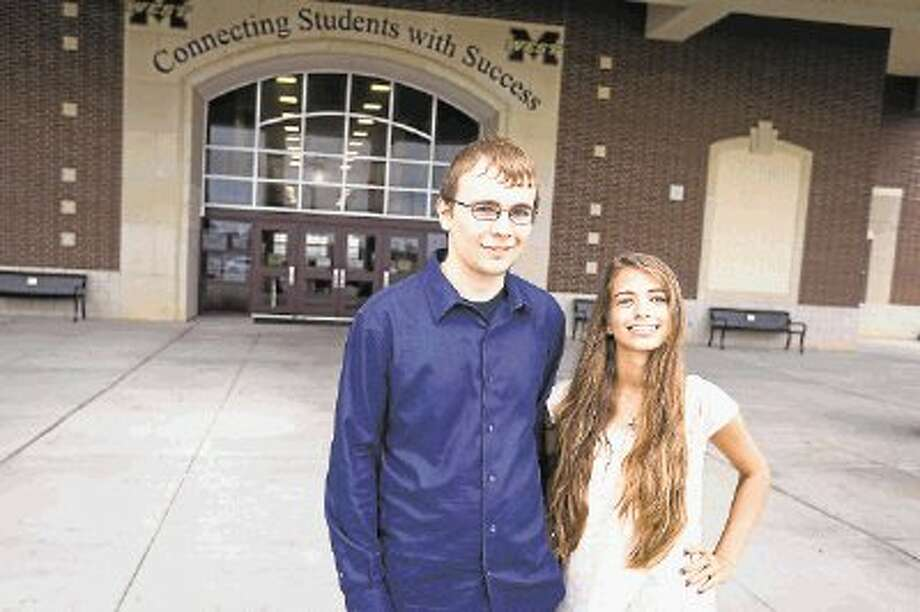Magnolia West valedictorian Jakob Wells, left, and salutatorian Amber Bamsch, right, will lead their class in commencement ceremonies on June 7. The ceremonies are set for 9 a.m. at Reed Arena on the campus of Texas A&M University in College Station. / Copyright 2014 Michael Minasi