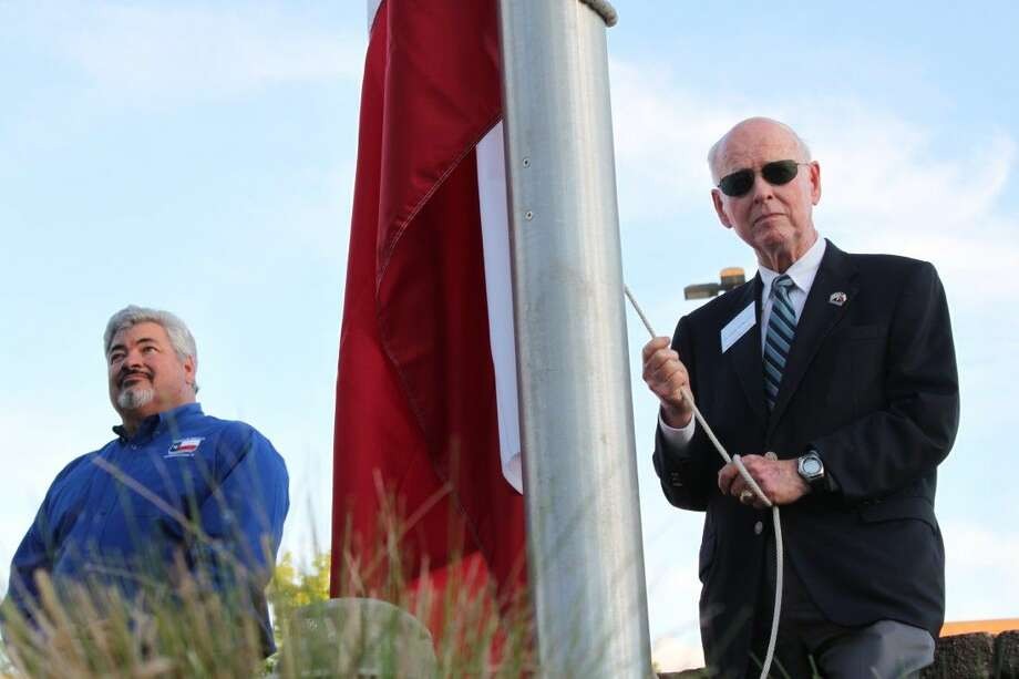 Hundreds gathered for the fifth anniversary of the Friends of the Flag Foundation Flag Replacement Ceremony on Thursday.