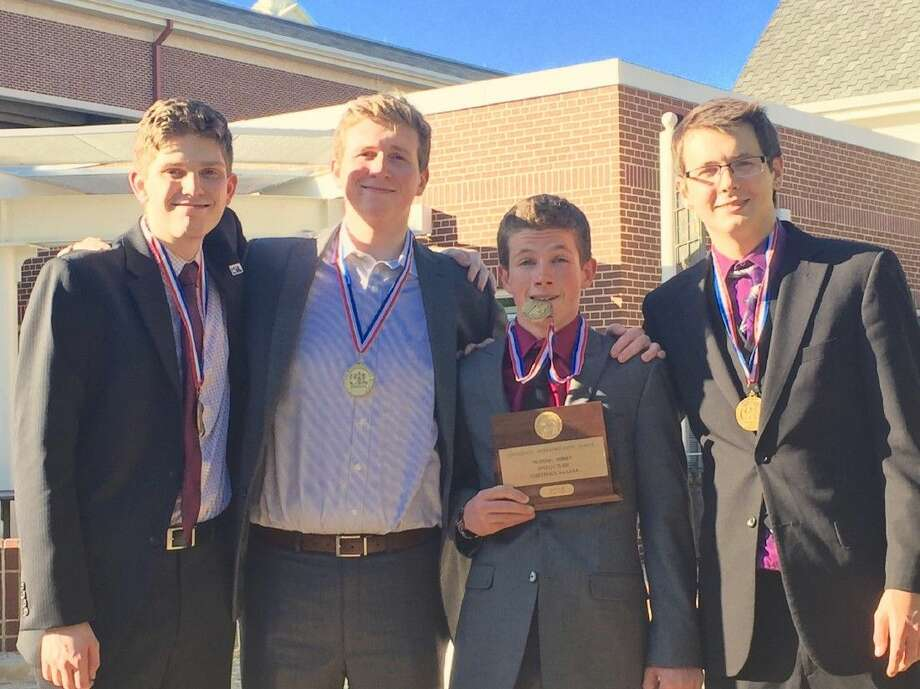 Members of the Montgomery HS debate team pose for a photo. The team recently competed in the State 6A UIL Academic Meet at the University of Texas.