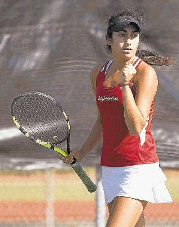The Woodlands' Melissa Vizcardo took second place in the girls singles division at the Region II-6A tennis tournament in Waco. Photo: Jason Fochtman