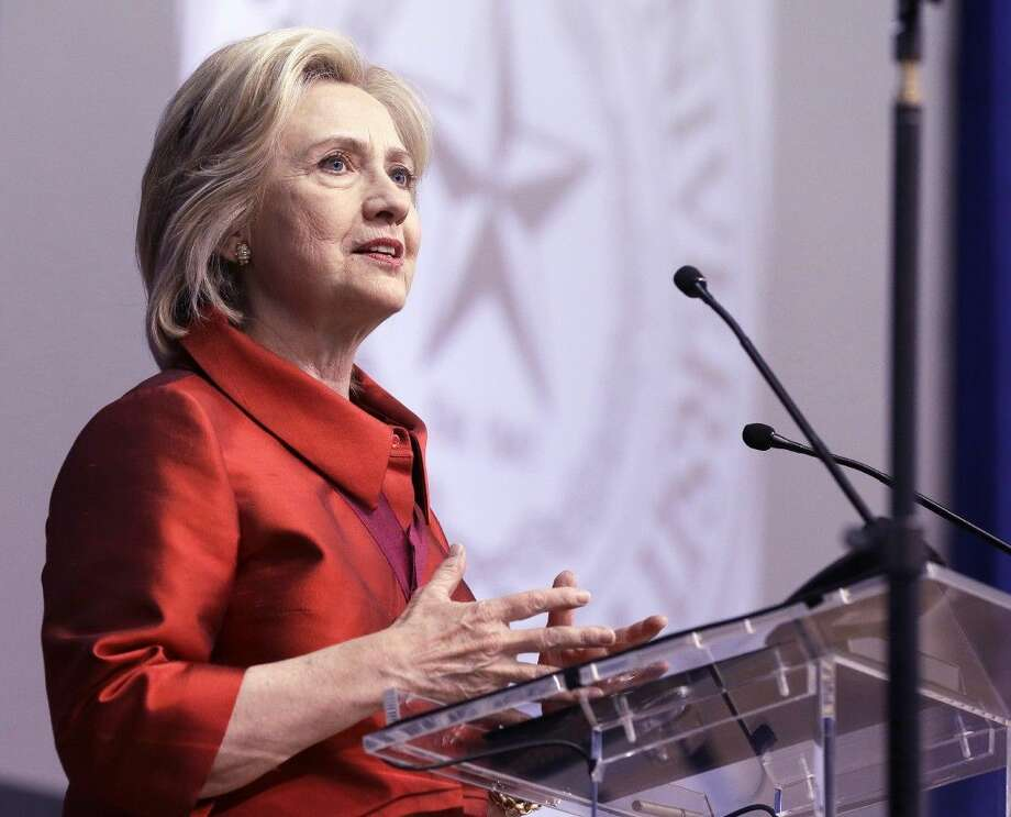 Democratic presidential candidate Hillary Rodham Clinton delivers a speech at Texas Southern University in Houston, Thursday. Photo: Pat Sullivan