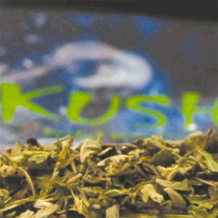 Pictured is a close-up of synthetic marijuana purchased from a gas station.