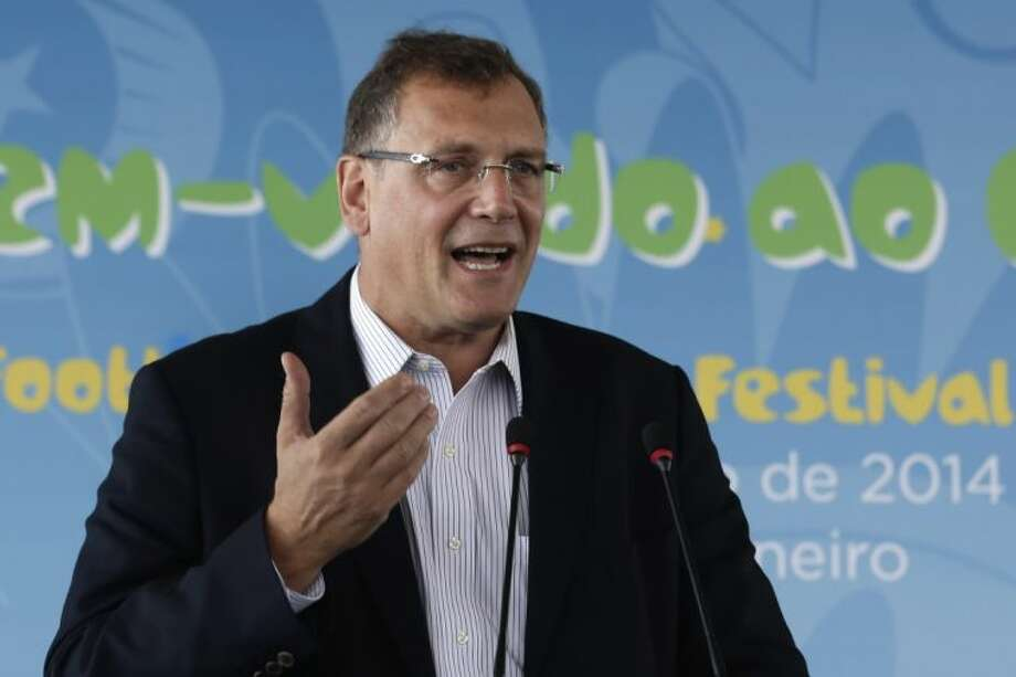 FIFA Secretary General Jerome Valcke will be on the edge of his seat until all 12 Brazilian cities have hosted their World Cup openers. Photo: Hassan Ammar
