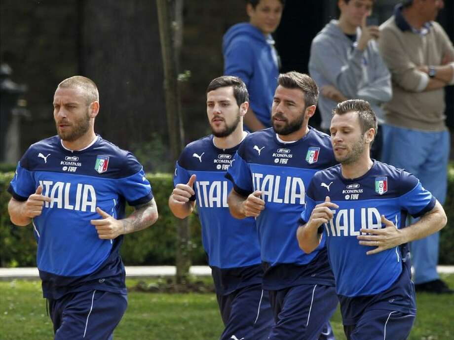 Italy — including, from left, Daniele De Rossi, Mattia Destro, Andrea Barzagli and Antonio Cassano — is seeking its fifth Word Cup title. Only Brazil, with five, has more than the Azzurri. Photo: Fabrizio Giovannozzi