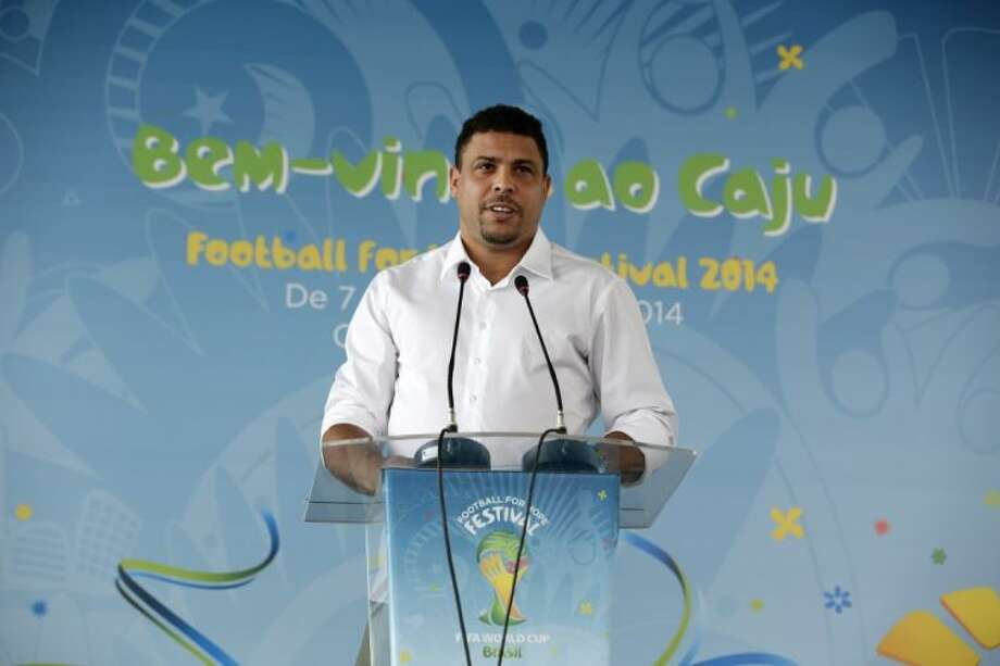 "Former Brazil star Ronaldo said there was ""a disregard for the population"" in the lead-up to the World Cup. Photo: Hassan Ammar"