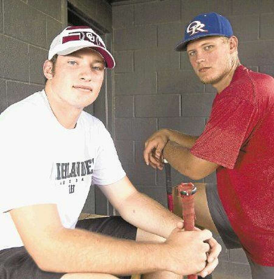 The Woodlands' Chris Andritsos, left, and Oak Ridge's Luken Baker are top-flight professional baseball prospects, although Andritsos has signed with Oklahoma and Baker is headed to TCU. Photo: Jason Fochtman