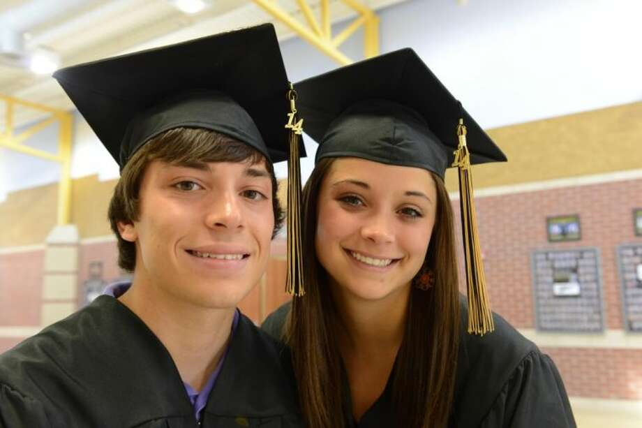 This undated photo shows twins Brian, left, and Reagan Gillette. The twins will graduate at the top of their class at Bushland High School. The Amarillo-area twins have overcome mother's murder to graduate top of their high school class.