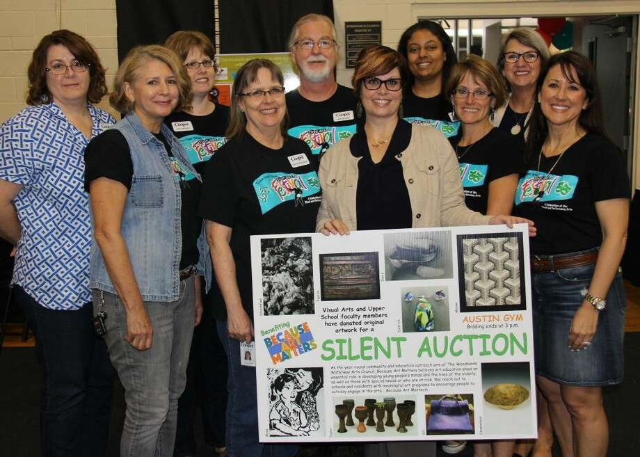 Pictured from left are Gill, Fearon, Dietrich, Stevenson, Mosier, Barton, Musa-Carr, Garrison, Davis and Hayes. Not pictured, but also contributors to the auction, were Lesia Streckfuss and Emily Taylor.