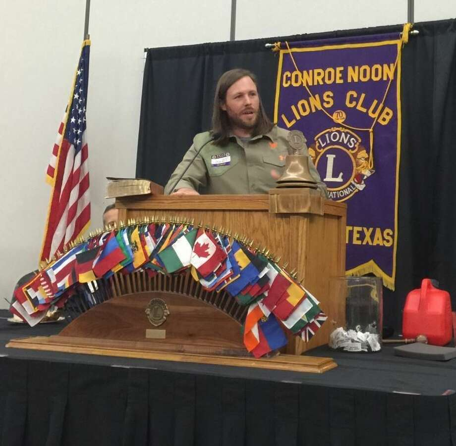 At their meeting last week, Conroe Noon Lions Club members and guests were treated to many 'duck tales' from Grant Taylor, the General Manager for Buck & Duck Commander, who married into the famed Roberson family of the A&E TV show Duck Dynasty.