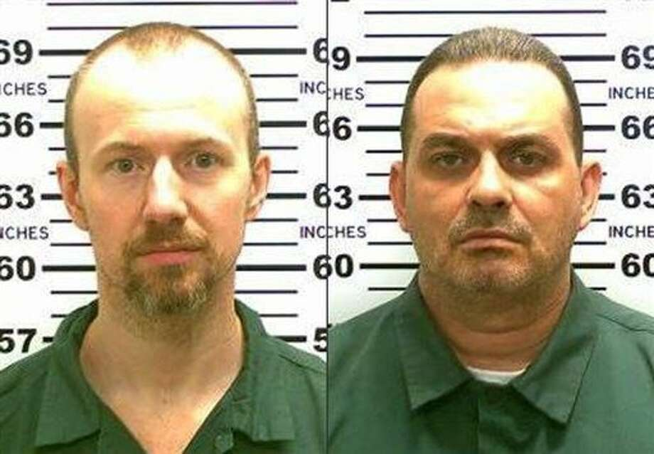This combination made from photos released by the New York State Police shows inmates David Sweat, left, and Richard Matt. Authorities said Sweat, 34, and Matt, 48, both convicted murderers, escaped from the Clinton Correctional Facility in Dannemora, N.Y. Photo: Uncredited