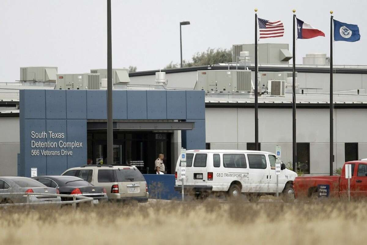 FILE - This Feb. 10, 2009 file photo shows the privately-run South Texas Detention Center in Pearsall, Texas.