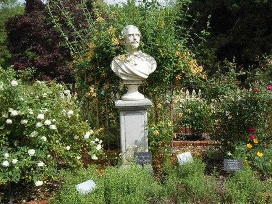A themed garden with Shakespeare statuary.