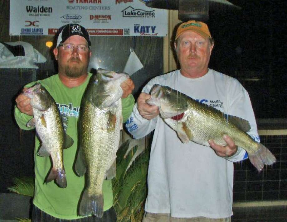 Jeff Randolph and Eddy Thomas won the Conroe Bass Tuesday Night Tournament on June 3 with a stringer weight of 13.18 pounds.