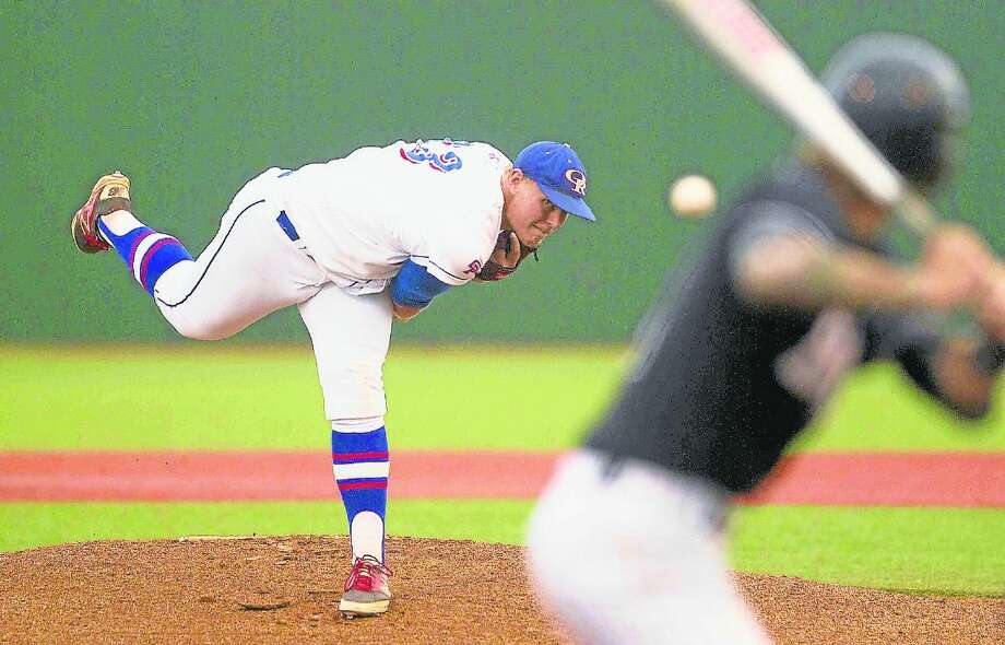 Oak Ridge pitcher Luken Baker was named The Courier's All-Montgomery County Player of the Year after leading the War Eagles to the Region II-6A finals this season. Photo: Jason Fochtman