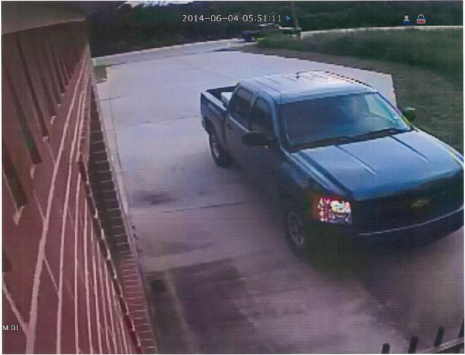 MCSO Auto Theft Task Force detectives are search for this blue truck and its driver in connection with two stolen trailers.