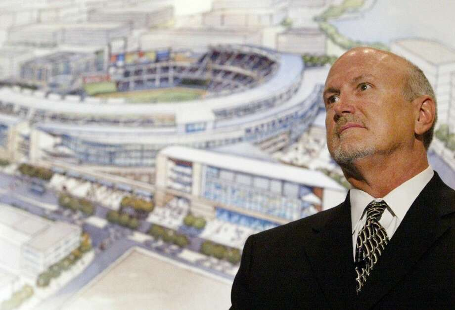 In this March 14, 2006 file photo, Joe Spear, the senior principle of architecture firm HOK Sport, attends a news conference in Washington where sketches for the new Washington Nationals' Baseball stadium were unveiled. Photo: HARAZ N. GHANBARI