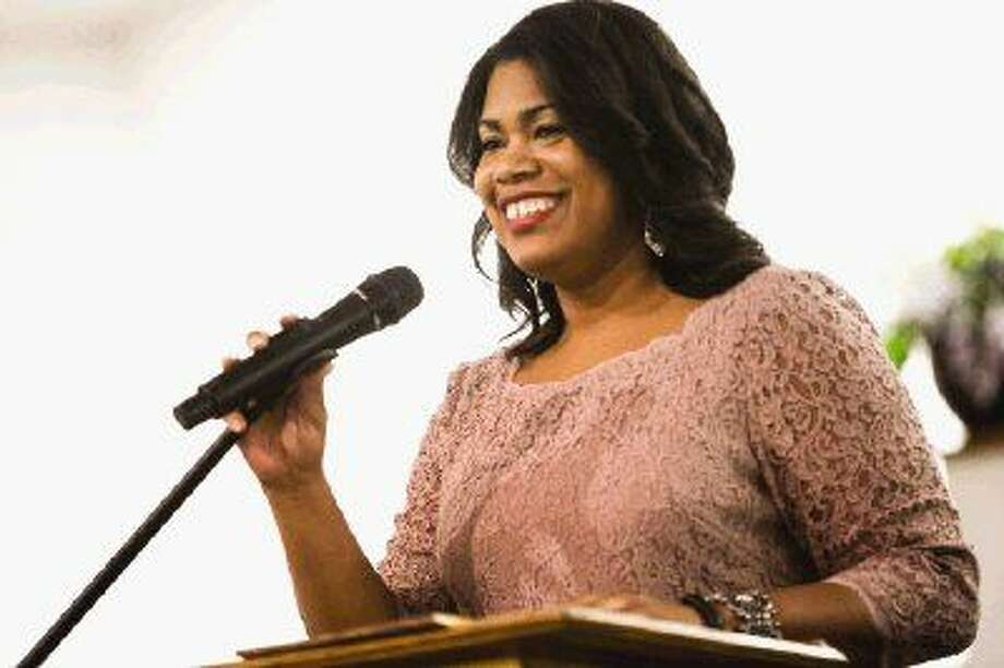 Keynote speaker Tiana Sanford, Montgomery County District Court Chief Prosecutor, speaks during the annual Juneteenth Celebration and Scholarship Banquet on Saturday at West Tabernacle Church in Conroe. Photo: Michael Minasi