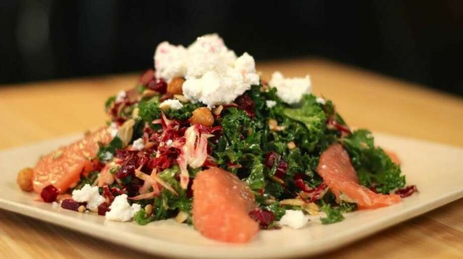 The Baby Kale Salad is a sure bet, featuring roasted beets, crisp fried chickpeas, feta, Texas pink grapefruit and sunflower seeds in an awesome orange chipotle dressing.