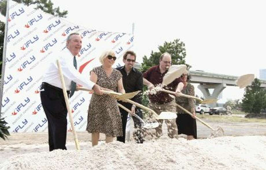 Oak Ridge North community leaders and iFly executives broke ground on the new iFly Indoor Skydiving facility Thursday.