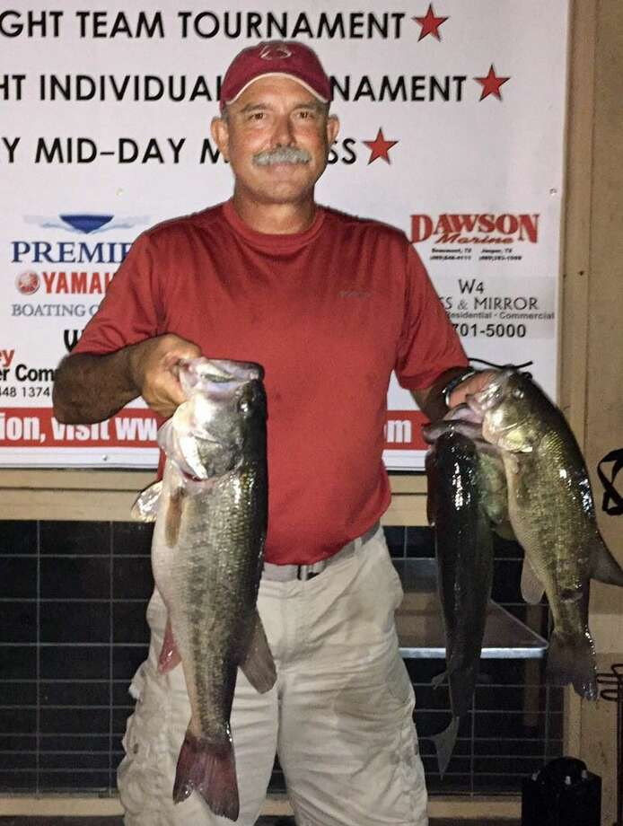Mickey Mueller came in first place in the CONROEBASS Thursday Individual tournament with a total stringer weight of 15.03 pounds. He also has the big bass that weighed 7.85 pounds.