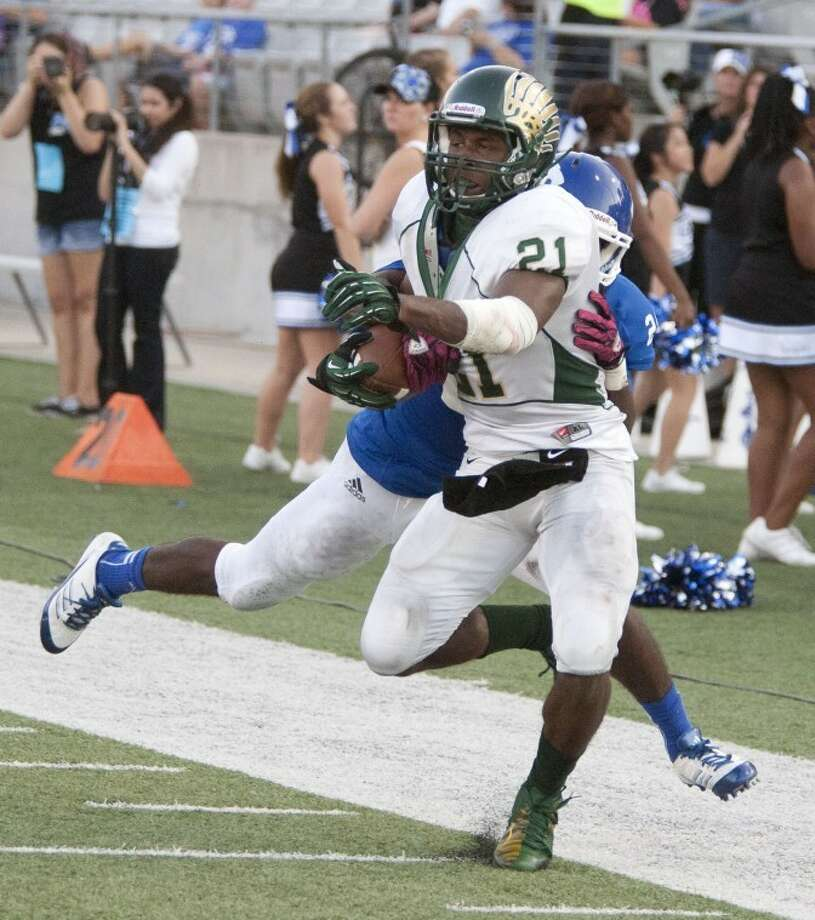 Bryce Peters and Cy Falls are No. 2 in the CFISD football power rankings this week. Photo: Karl Anderson