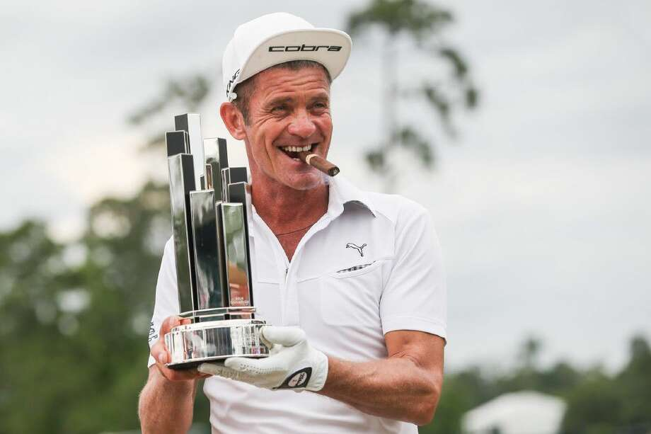 Jesper Parnevik is named champion of the Insperity Invitational on Sunday, May 8, 2016, at The Woodlands Country Club Tournament Course. Photo: Michael Minasi