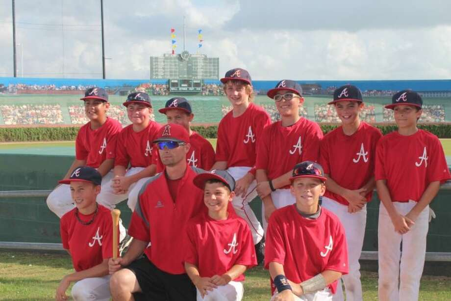 The Columbia Angels won the September Slugfest tournament held at Big League Dreams in League City. Pitcured from top left are Luke Garza, Heath Cook, Blake Avery, Chris Duncan, Kaden Kram, Braden Norris, Lucas Viancos, Sean Snyder, Ricky Watkins (coach), Korbyn Rolf and Brandon Kostelnik. Photo: Submitted Photo