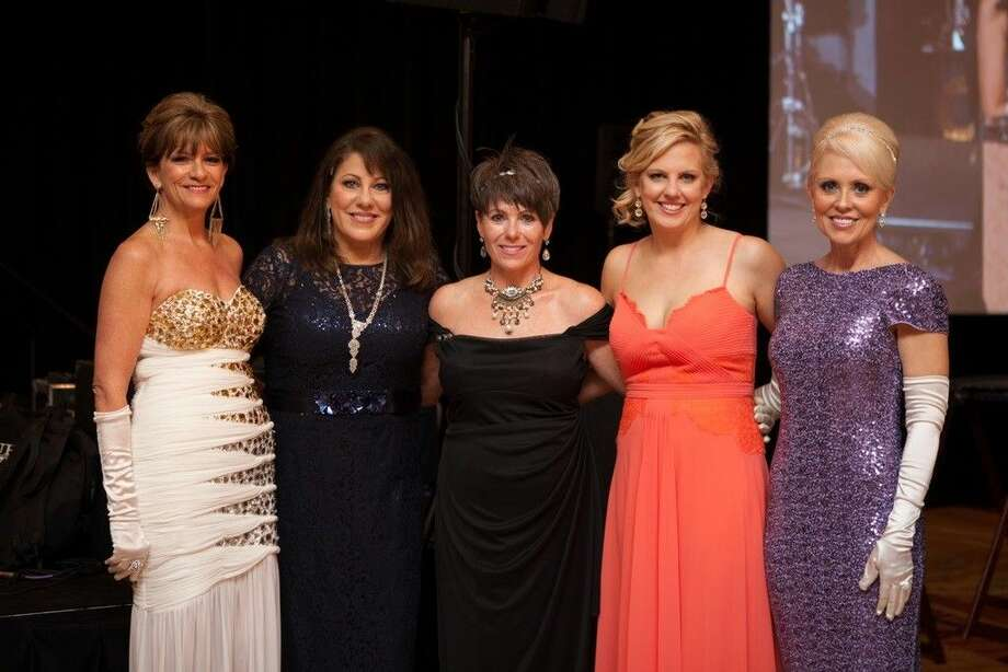 "These are the 2015 Montgomery County Habitat for Humanity ""An evening at Downtown Abbey"" Gala co-chairs. Pictured left to right are: Suzanne Pagel, Cindy Hageman, Susan Hayes, Jen Lowrance and Brenda Mizell."