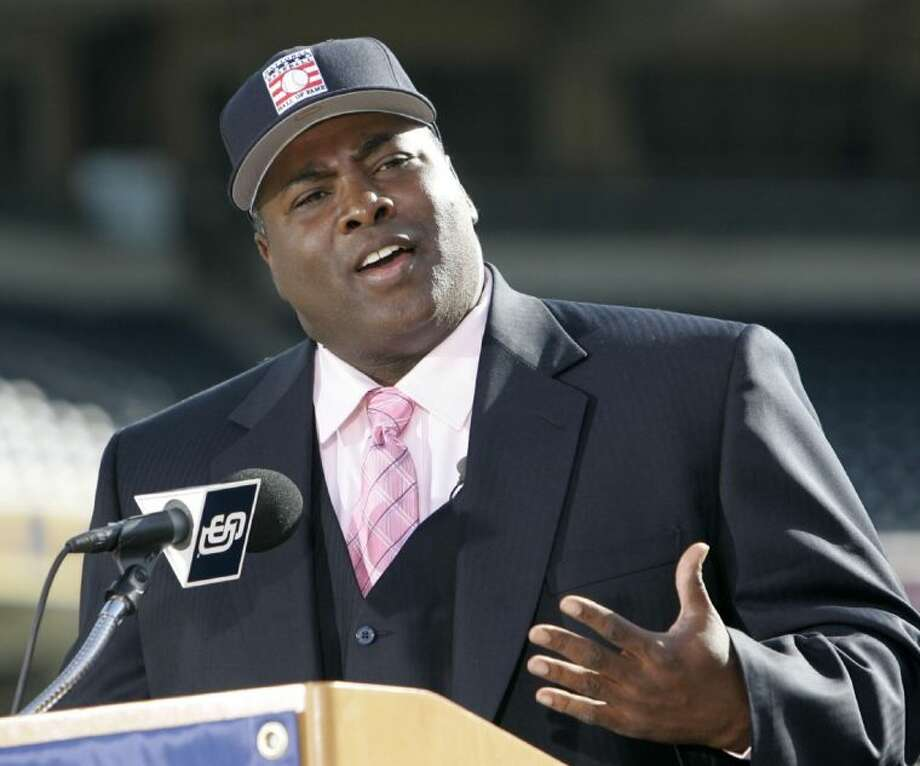 FILE - In this Jan. 9, 2007 file photo, former San Diego Padre Tony Gwynn talks about his election to the National Baseball Hall Of Fame, in San Diego. The Baseball Hall of Fame on Monday, June 16, 2014 said Gwynn has died of cancer. He was 54. (AP Photo/Lenny Ignelzi, File) Photo: Lenny Ignelzi